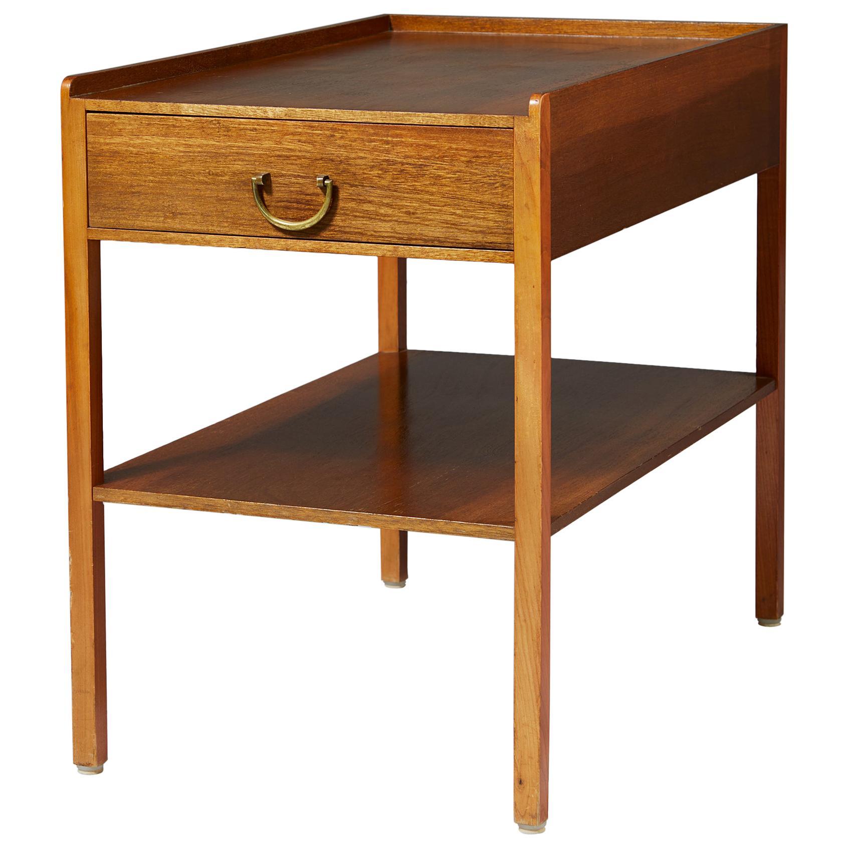 Bedside Table Model 914 Designed by Josef Frank for Svenskt Tenn, Sweden, 1950