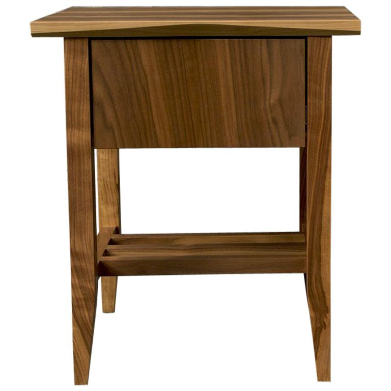 Bedside Table, Nightstand, Storage, Walnut, Customizable, Modern, Semigood, Rift For Sale