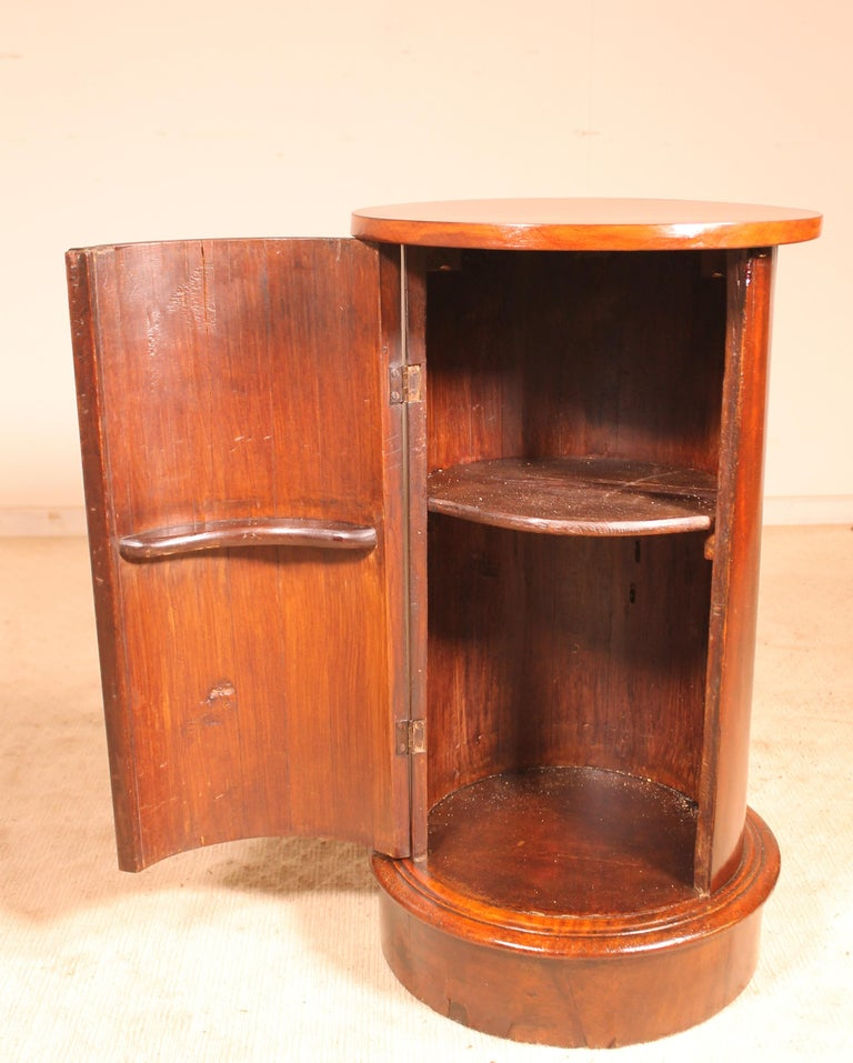lovely bedside table or small guerdidon called Somno from France from the 19th century in mahogany
