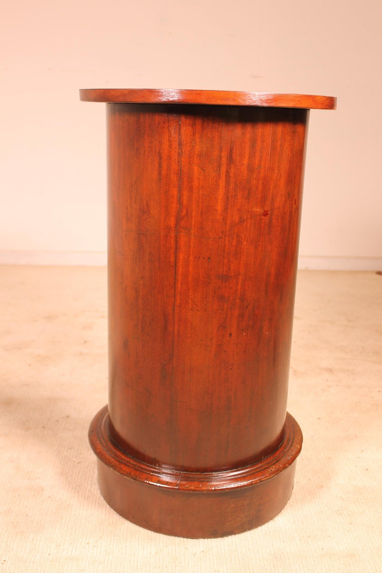 Mahogany Bedside Table/Small Gueridon Called Somno 19th Century Empire Style For Sale