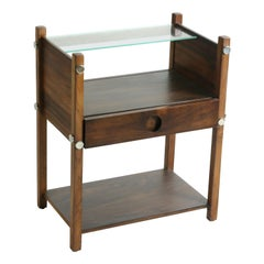 "Bedside Table ""Yara ""by Sergio Rodrigues in Jacaranda Wood"