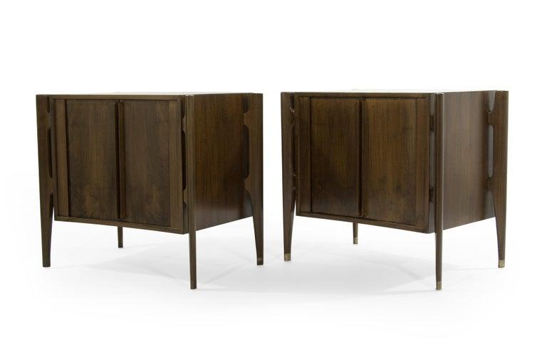 Scandinavian Modern Bedside Tables by Jorgen Clausen in Rosewood, Denmark, 1950s For Sale