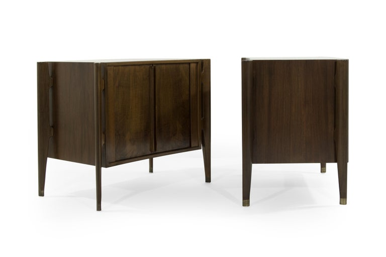 Bedside Tables by Jorgen Clausen in Rosewood, Denmark, 1950s In Excellent Condition For Sale In Stamford, CT
