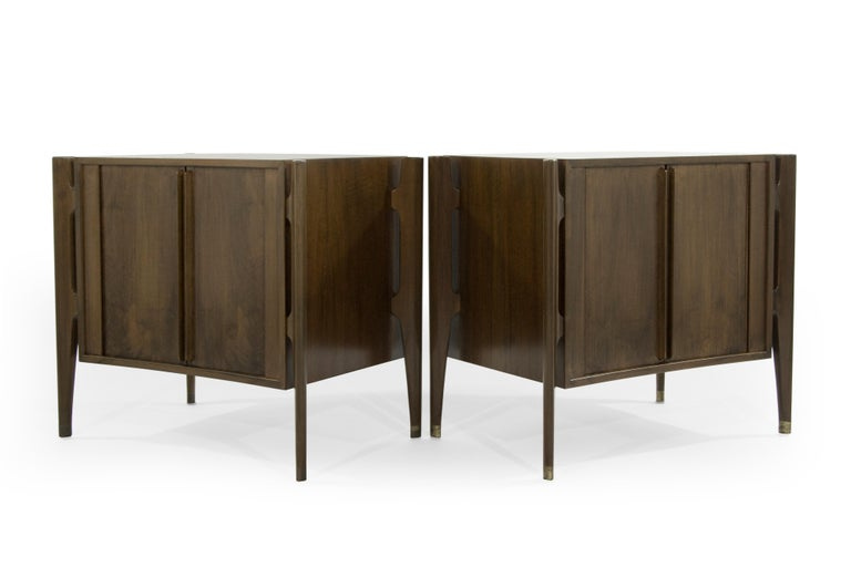 20th Century Bedside Tables by Jorgen Clausen in Rosewood, Denmark, 1950s For Sale