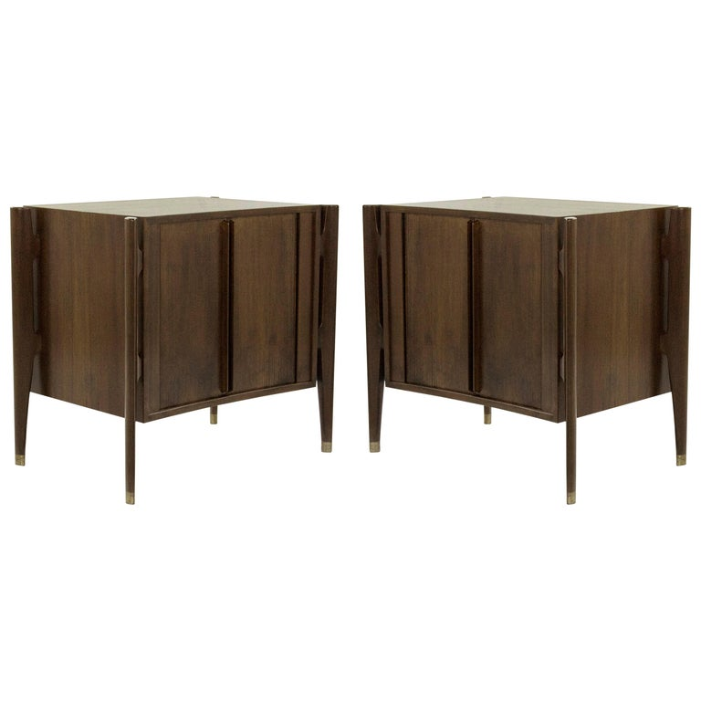 Bedside Tables by Jorgen Clausen in Rosewood, Denmark, 1950s For Sale