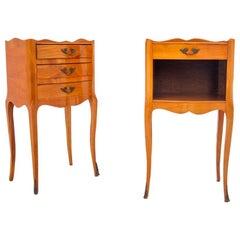 Bedside Tables, France, Walnut, Mid XX Century