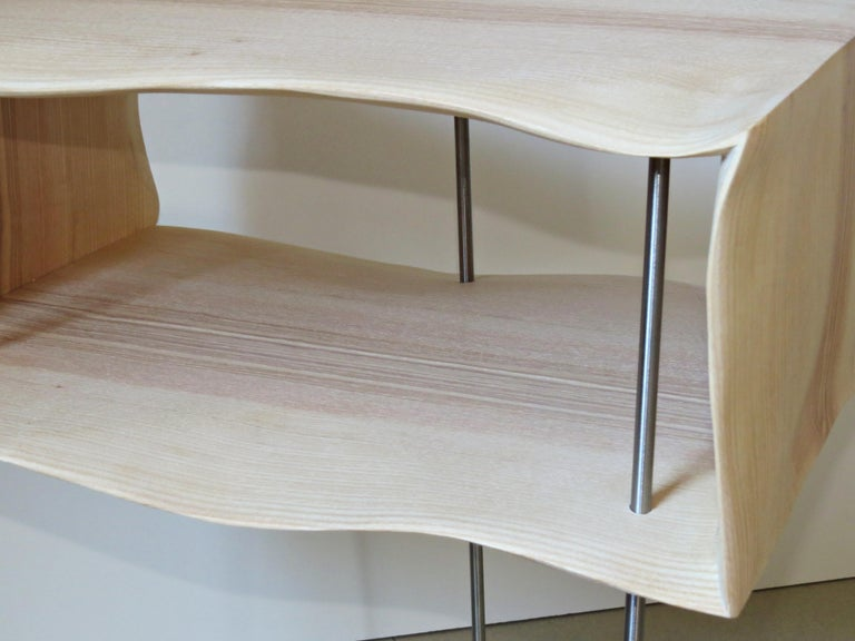 Bedside Tables, Organic Design, Handmade, Two-Pieces Set, Solid Wood In New Condition For Sale In Dietmannsried, Bavaria