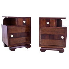 Bedside Tables, Poland, Around 1950, after Renovation