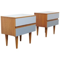 Bedside Tables Shades, Elm, 1960s