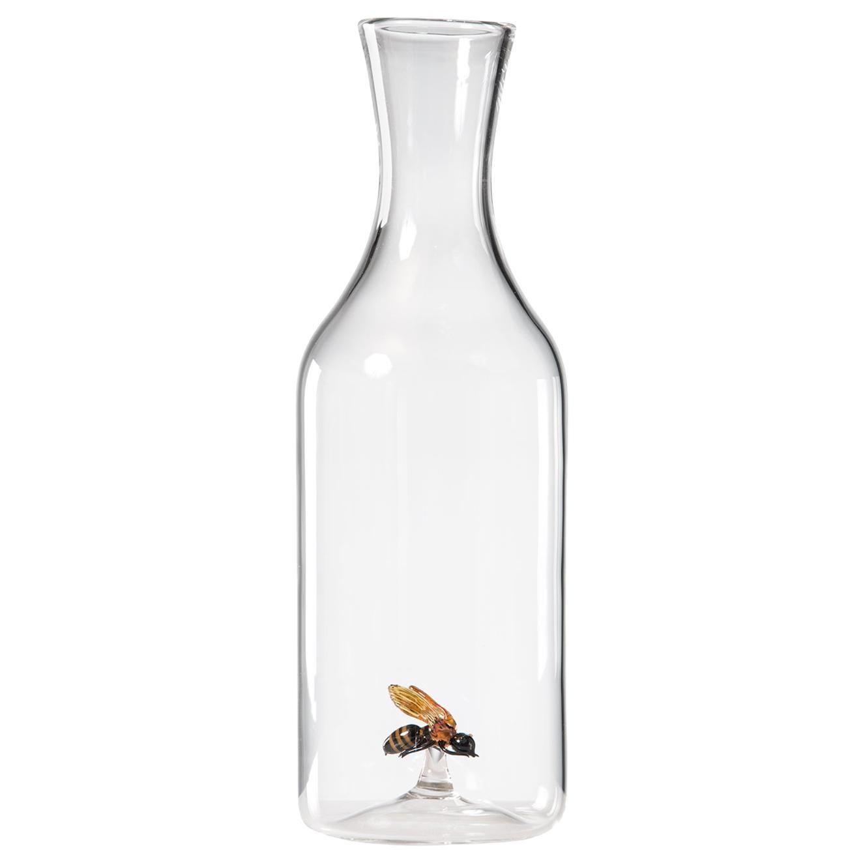 'Bee Bottle' Hand Blown Glass Bottle by Simone Crestani