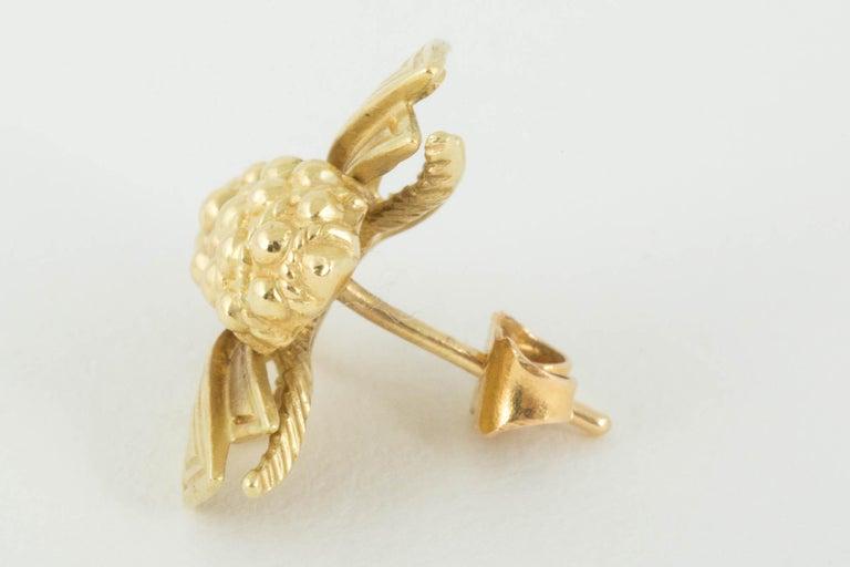 Women's or Men's Bee Stud Earrings by Tiffany & Co. For Sale