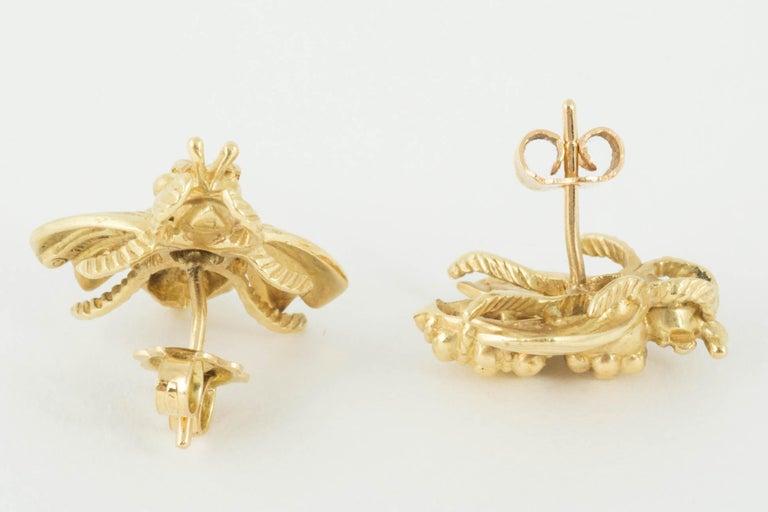 Bee Stud Earrings by Tiffany & Co. For Sale 1