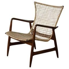 Beech and Rattan Chair by Kofod-Larsen, Denmark, 1950s