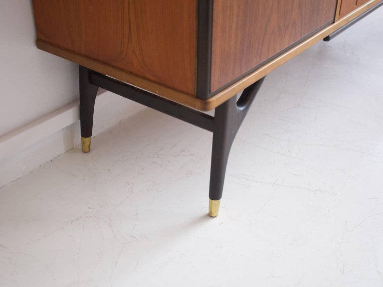 Beech and Teak Sideboard by Tabergs Mobler For Sale 3