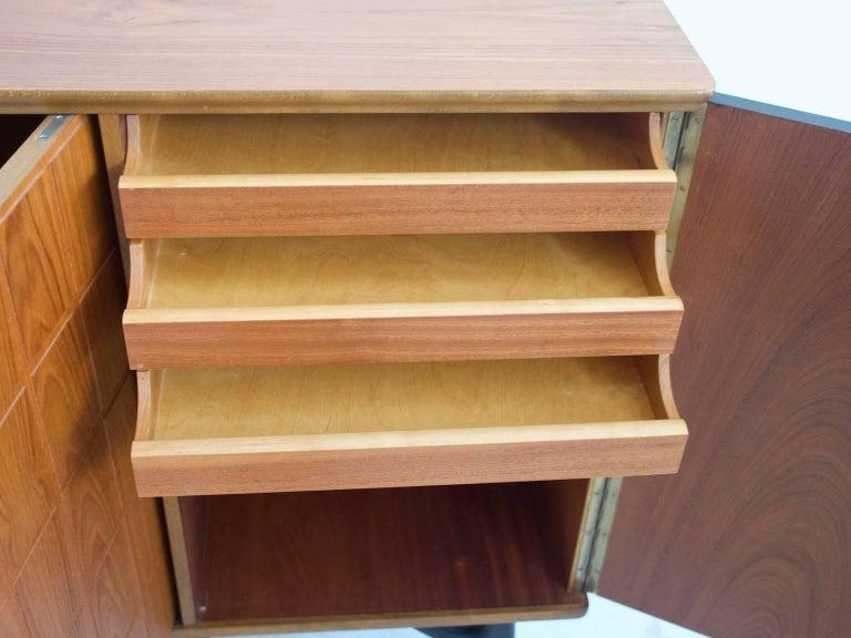 Scandinavian Modern Beech and Teak Sideboard by Tabergs Mobler For Sale