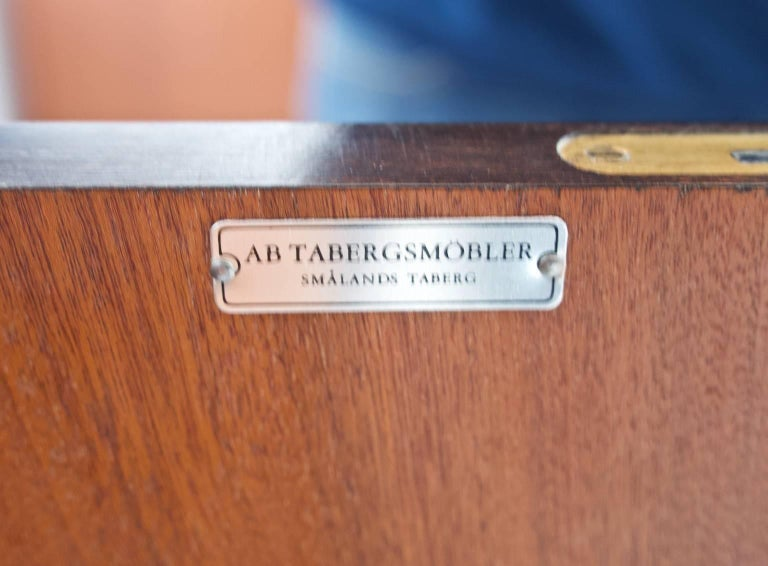 Swedish Beech and Teak Sideboard by Tabergs Mobler For Sale