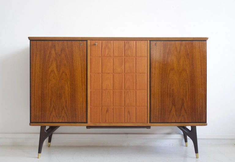 Stained Beech and Teak Sideboard by Tabergs Mobler For Sale