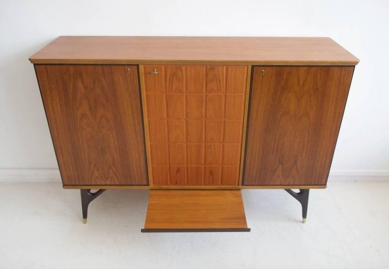 Beech and Teak Sideboard by Tabergs Mobler For Sale 1