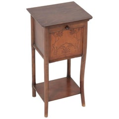 Beech Bentwood Art Nouveau Nightstand by Jacob and Josef Kohn Vienna, 1900s