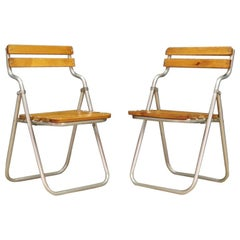 Beech Chairs Retro Vintage Danish Design, 1970s