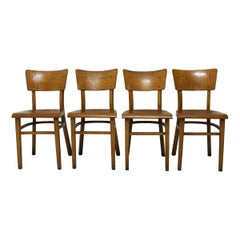 Thonet Beech Dining Chairs, 1950´s, Set of 4