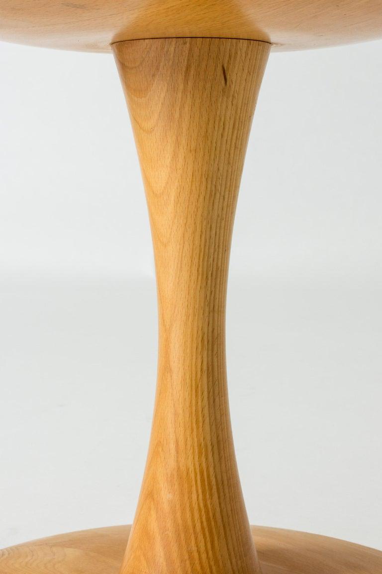 Mid-20th Century Beech Stool/Table