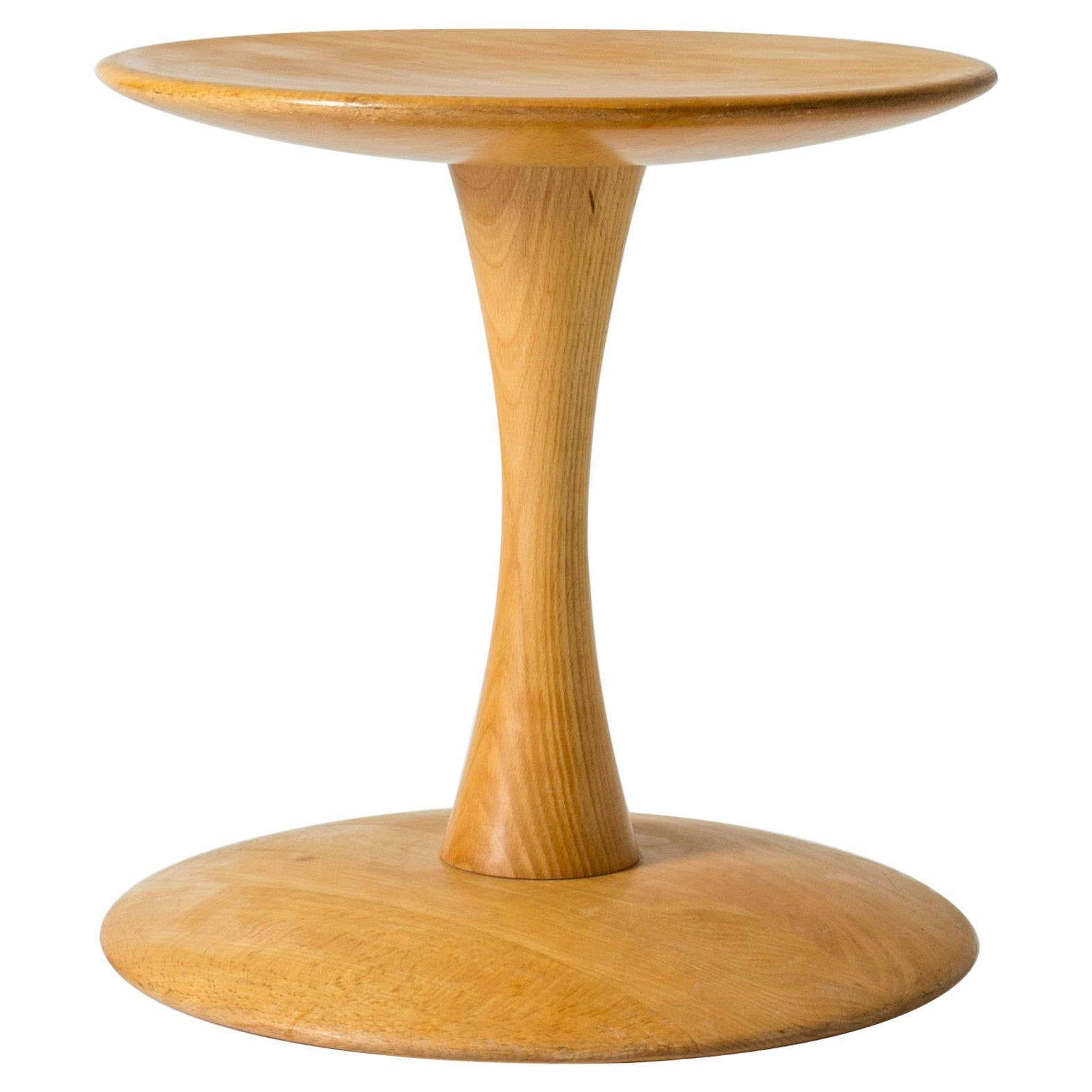 "Beech Stool/Table ""Toadstool"", ""Trisserne"" by Nanna Ditzel for Kolds Savværk"