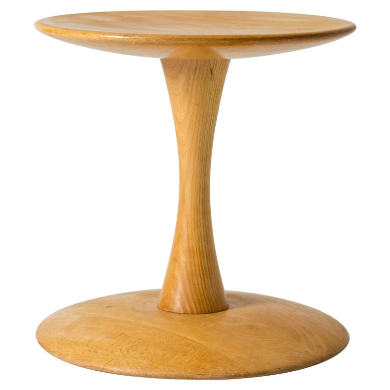 "Beech Stool/Table ""Toadstool"", ""Trisserne"" by Nanna Ditzel for Kolds Savværk For Sale"