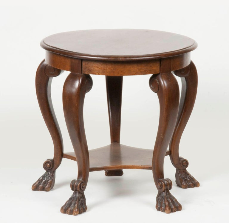 Beech Wood And Oak Round Coffee Table Early 20th Century
