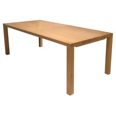 Beech Wood Parsons Style Extending Table