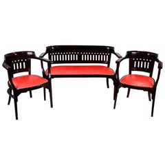 Beechwood Seating Set by J & J Kohn Design Otto Wagner, Austria, circa 1910
