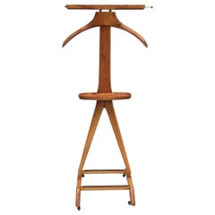 Beechwood Valet Stand by Fratelli Reguitti in Style of Ico Parisi, Italy, 1950s