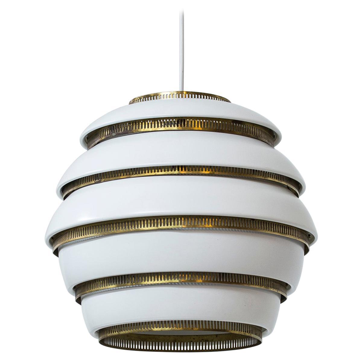 """Beehive"" Ceiling Lamp Model A331 by Alvar Aalto, Valaisinpaja OY, Finland 1960s"