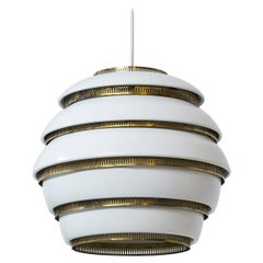 """Beehive"" Ceiling Lamp Model A331 by Alvar Aalto, Valaisinpaja OY, Finland 1960s"