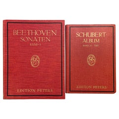 Beethoven Sonaten and Schubert Music Sheet Albums, Editions Peters, Leipzig 1932
