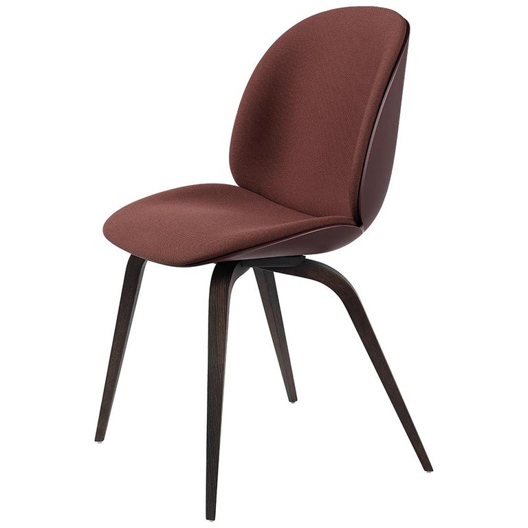 Beetle Dining Chair, Front Upholstered, Natural Oak For Sale