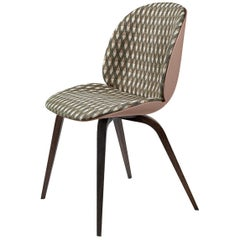 Beetle Dining Chair, Front Upholstered, Smoked Oak