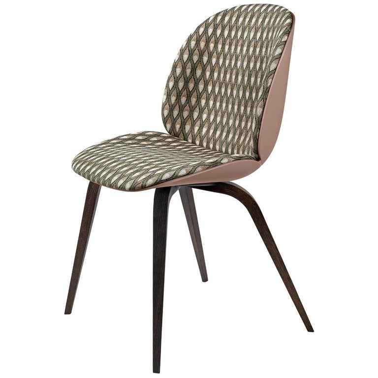 Beetle Dining Chair, Front Upholstered, Smoked Oak For Sale