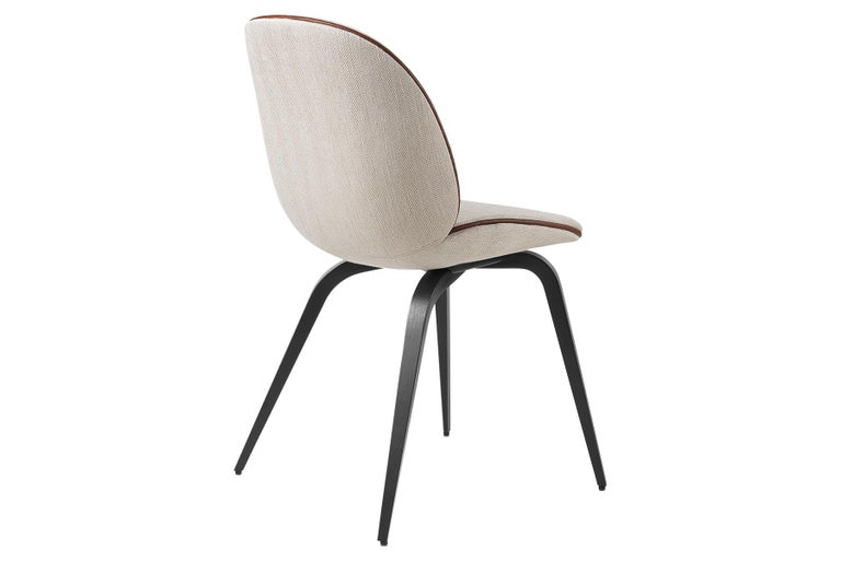Danish Beetle Dining Chair, Fully Upholstered, American Walnut For Sale