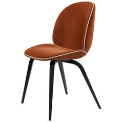Beetle Dining Chair, Fully Upholstered, American Walnut