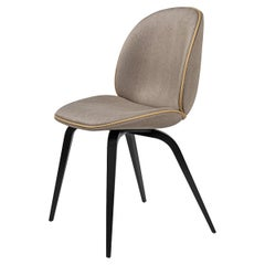 Beetle Dining Chair, Fully Upholstered, Black Stained Beech