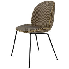 Beetle Dining Chair, Fully Upholstered, Conic Base, Matte Black