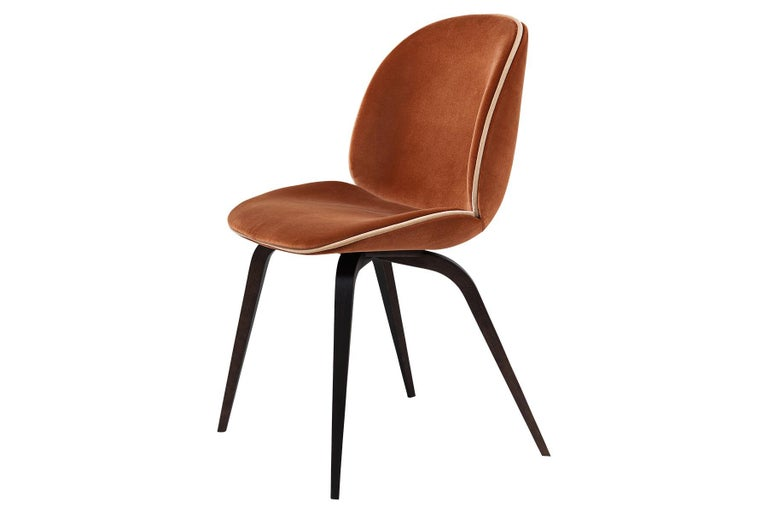 Contemporary Beetle Dining Chair, Fully Upholstered, Natural Oak For Sale