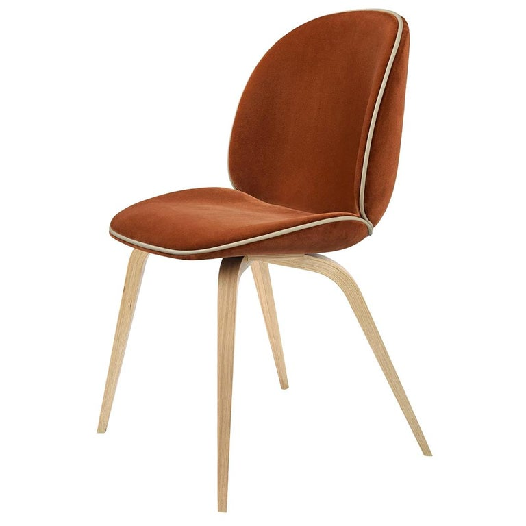 Beetle Dining Chair, Fully Upholstered, Natural Oak For Sale
