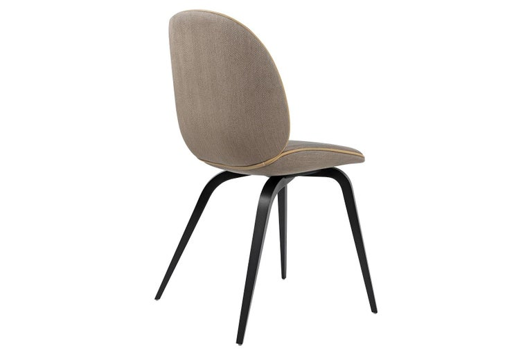 Beetle Dining Chair, Fully Upholstered, Smoked Oak In New Condition For Sale In Berkeley, CA