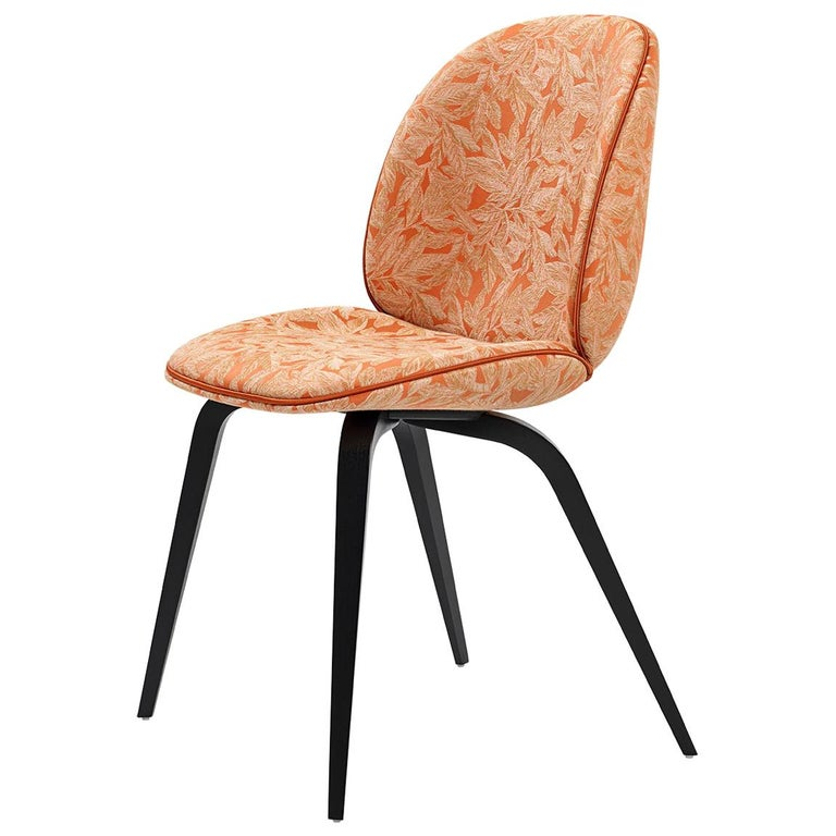 Beetle Dining Chair, Fully Upholstered, Smoked Oak For Sale