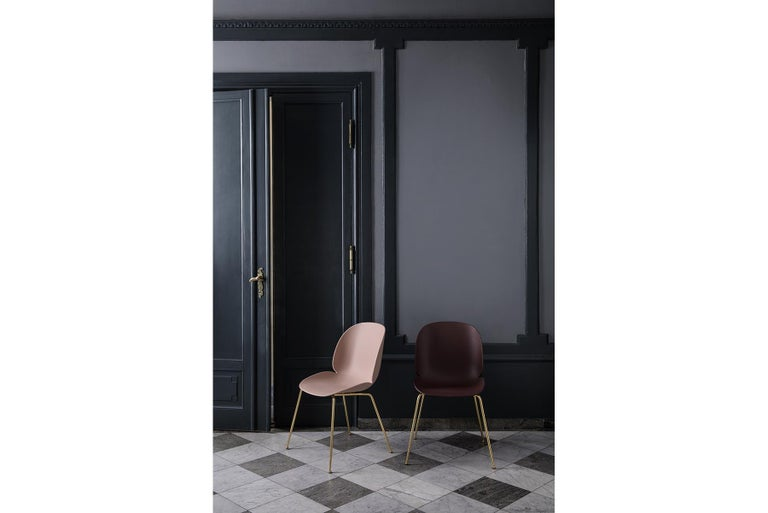 Beetle Dining Chair, Fully Upholstered, Stackable Base, Matte Black  For Sale 6