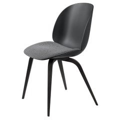 Beetle Dining Chair, Seat Upholstered, Black Stained Beech
