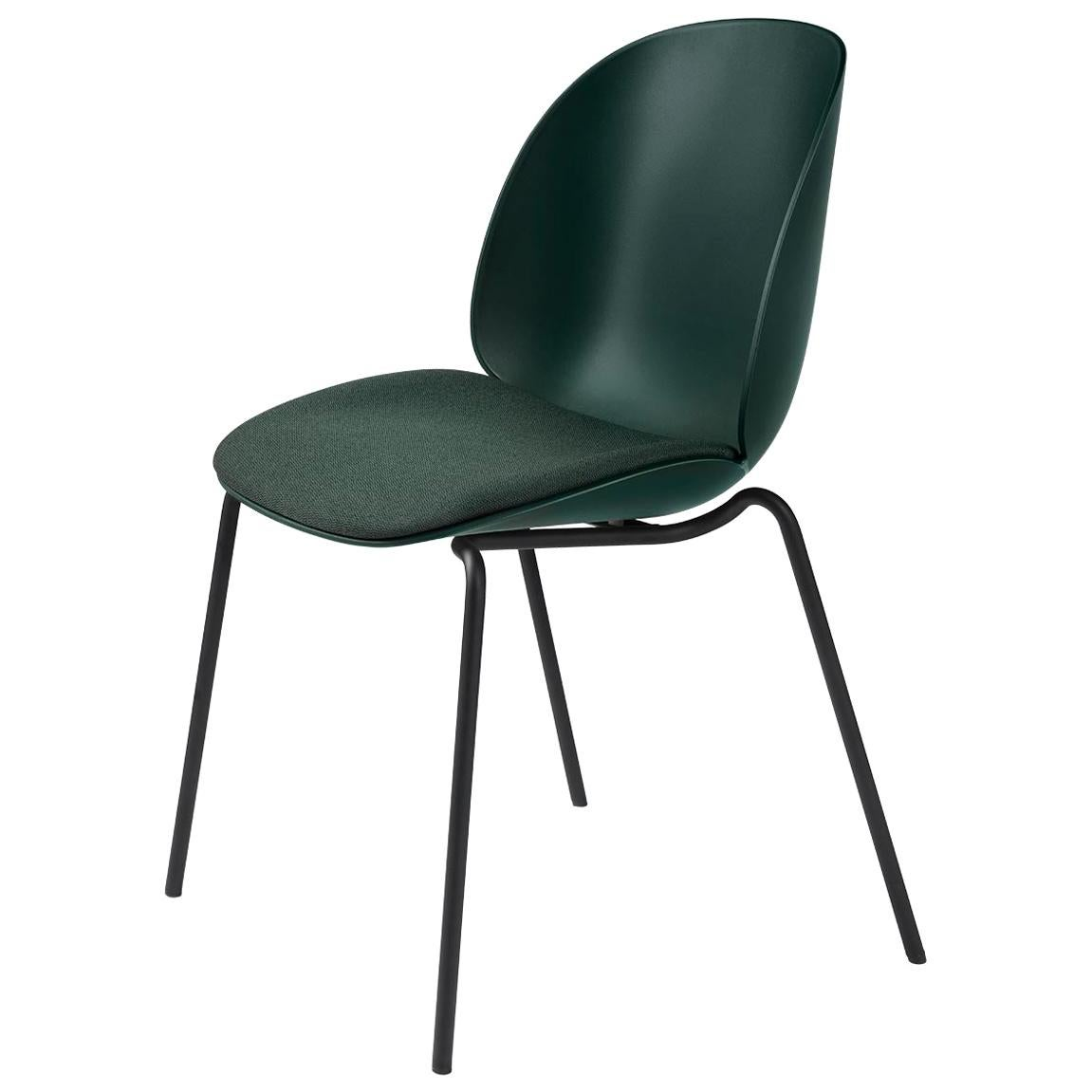 Beetle Dining Chair, Seat Upholstered, Stackable Base, Chrome