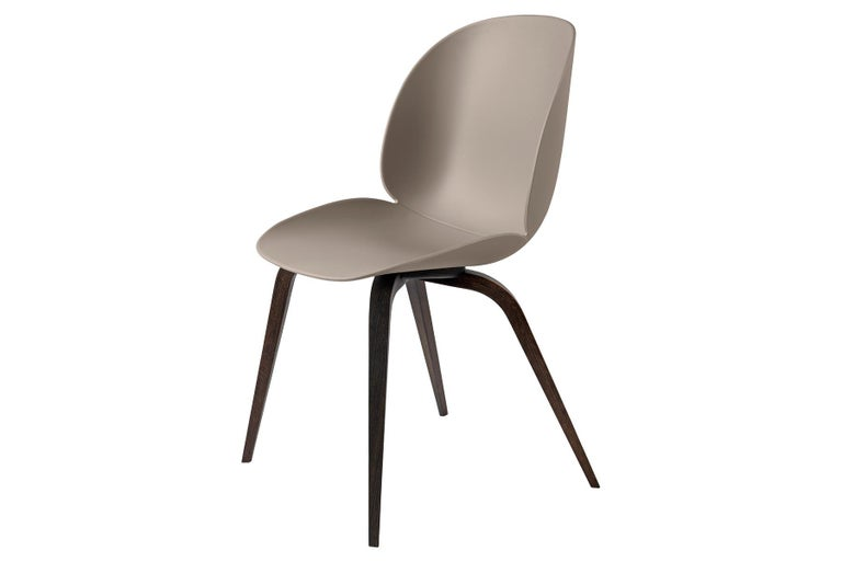 Contemporary Beetle Dining Chair, Un-Upholstered,  American Walnut For Sale